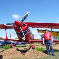 Bob Pooler (Aviat UK) with the Pitts S-2C at Sun n Fun 2014