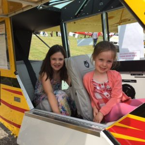 Future pilots try out G-ROVA at Aero Expo 2017