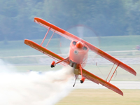 Pitts S-2C with smoke