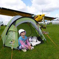 Rova makes a new friend at Aero Expo