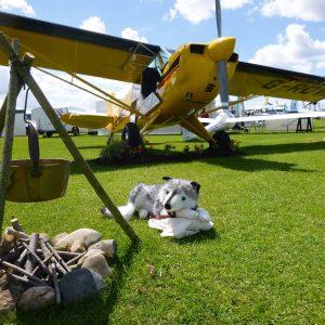 Aviat's bush plane camping scene